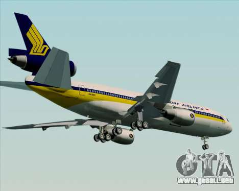 McDonnell Douglas DC-10-30 Singapore Airlines para visión interna GTA San Andreas