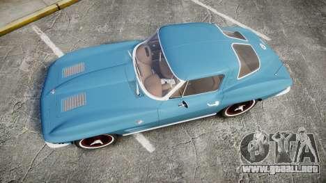Chevrolet Corvette Stingray 1963 v2.0 para GTA 4 visión correcta