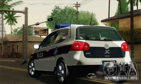 Volkswagen Golf V para GTA San Andreas left