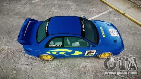 Subaru Impreza WRC 1998 World Rally v3.0 Green para GTA 4 visión correcta