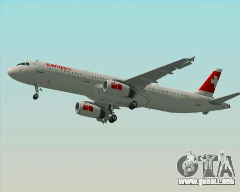 Airbus A321-200 Swiss International Air Lines para el motor de GTA San Andreas