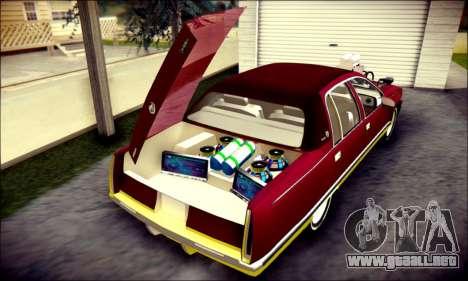 Cadillac Fleetwood 1993 Lowrider para GTA San Andreas interior