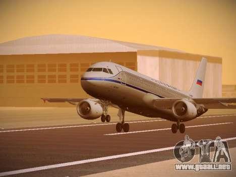 Airbus A320-214 Aeroflot Retrojet para GTA San Andreas left