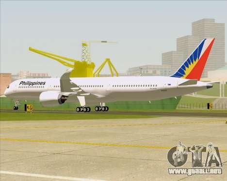 Airbus A350-900 Philippine Airlines para las ruedas de GTA San Andreas