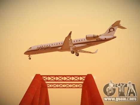 Bombardier CRJ-700 Horizon Air para visión interna GTA San Andreas