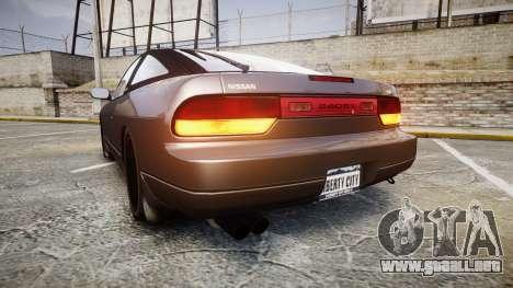 Nissan 240SX S13 para GTA 4 Vista posterior izquierda