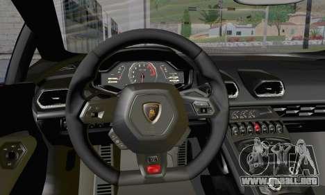 Lamborghini Huracan 2014 Type 2 para la visión correcta GTA San Andreas
