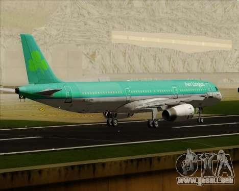 Airbus A321-200 Aer Lingus para la visión correcta GTA San Andreas
