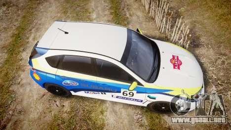 Subaru Impreza Cosworth STI CS400 2010 Custom para GTA 4 visión correcta