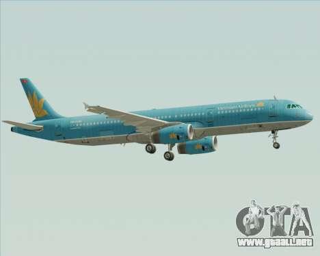 Airbus A321-200 Vietnam Airlines para la visión correcta GTA San Andreas