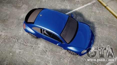 Volkswagen Beetle A5 Fusca para GTA 4 visión correcta