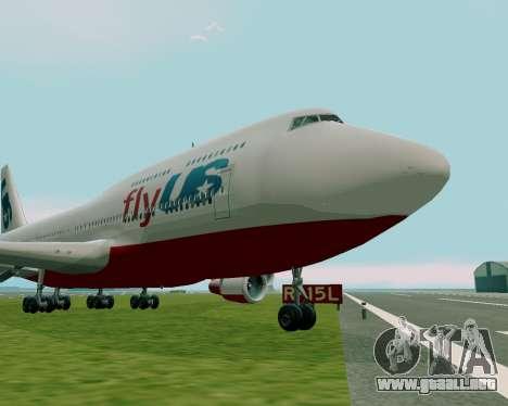 FlyUS para GTA San Andreas vista posterior izquierda