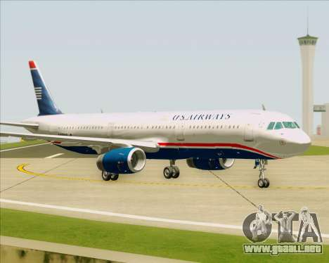 Airbus A321-200 US Airways para visión interna GTA San Andreas