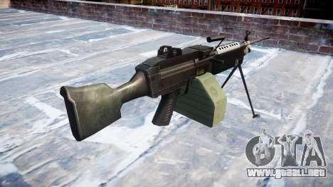 Luz ametralladora M249 SAW para GTA 4 segundos de pantalla