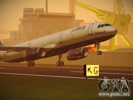 Airbus A321-232 jetBlue Whole Lotta Blue para GTA San Andreas left