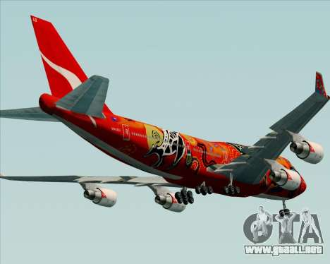 Boeing 747-400ER Qantas (Wunala Dreaming) para vista inferior GTA San Andreas
