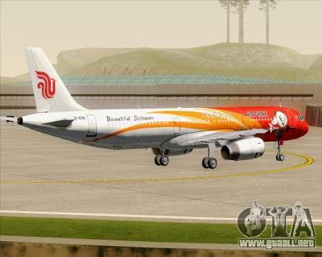 Airbus A321-200 Air China (Beautiful Sichuan) para vista inferior GTA San Andreas