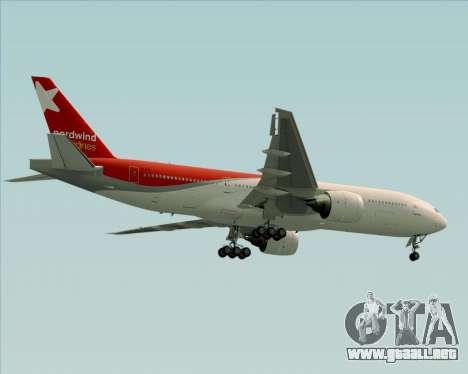 Boeing 777-21BER Nordwind Airlines para las ruedas de GTA San Andreas