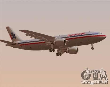 Airbus A300-600 American Airlines para la visión correcta GTA San Andreas