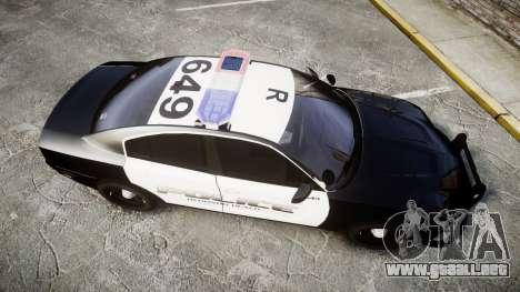 Dodge Charger 2014 Redondo Beach PD [ELS] para GTA 4 visión correcta