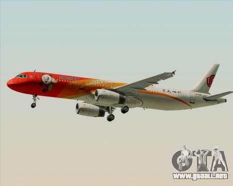 Airbus A321-200 Air China (Beautiful Sichuan) para la visión correcta GTA San Andreas
