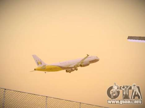 Airbus A321-232 Monarch Airlines para la vista superior GTA San Andreas