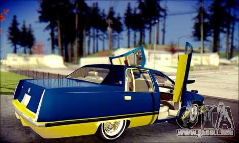 Cadillac Fleetwood 1993 Lowrider para vista inferior GTA San Andreas
