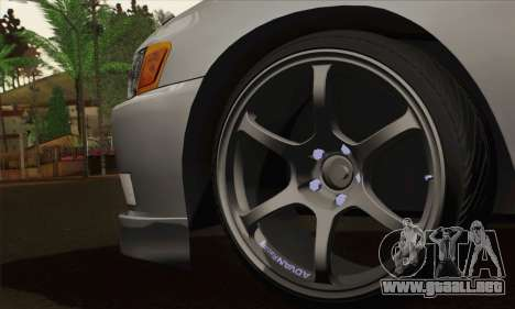 Toyota Mark 2 para GTA San Andreas vista posterior izquierda