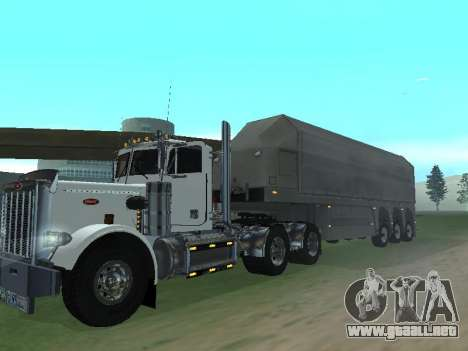 Box Glass Trailer para GTA San Andreas vista posterior izquierda