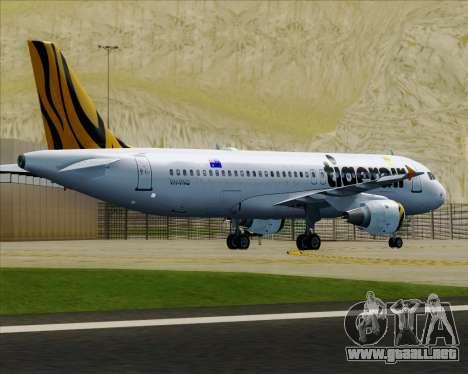 Airbus A320-200 Tigerair Australia para las ruedas de GTA San Andreas