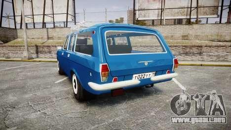 GAS-24-12 Volga Wh1 para GTA 4 Vista posterior izquierda