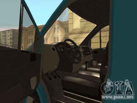 Gacela De La Siguiente para GTA San Andreas vista hacia atrás