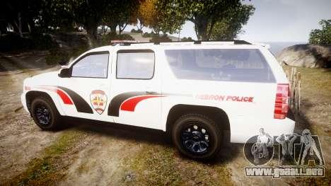 Chevrolet Suburban 2008 Hebron Police [ELS] Red para GTA 4 left