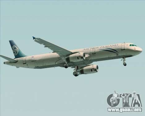 Airbus A321-200 Air New Zealand para la visión correcta GTA San Andreas