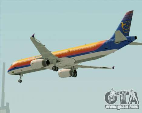 Airbus A321-200 Air Jamaica para las ruedas de GTA San Andreas