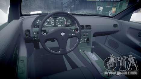 Nissan 240SX S13 para GTA 4 vista hacia atrás