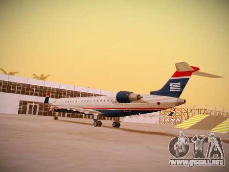 Bombardier CRJ-700 US Airways Express para GTA San Andreas vista posterior izquierda