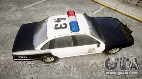Vapid Police Cruiser MX7000 para GTA 4 visión correcta