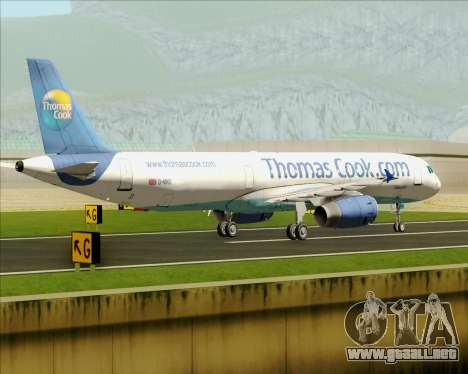 Airbus A321-200 Thomas Cook Airlines para vista lateral GTA San Andreas
