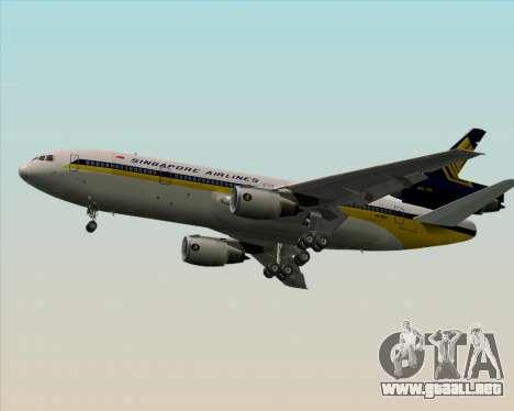 McDonnell Douglas DC-10-30 Singapore Airlines para la visión correcta GTA San Andreas