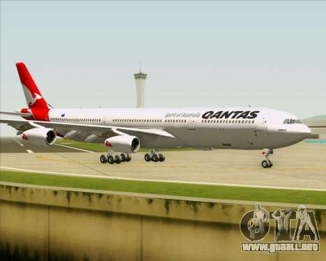 Airbus A340-300 Qantas para visión interna GTA San Andreas