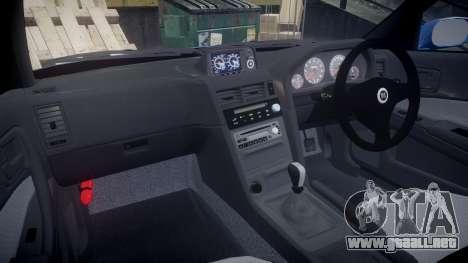 Nissan Skyline R-34 V-spec para GTA 4 vista hacia atrás