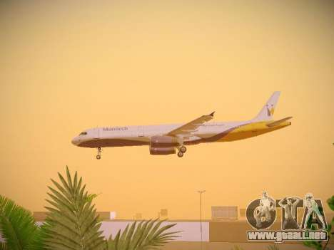 Airbus A321-232 Monarch Airlines para GTA San Andreas interior