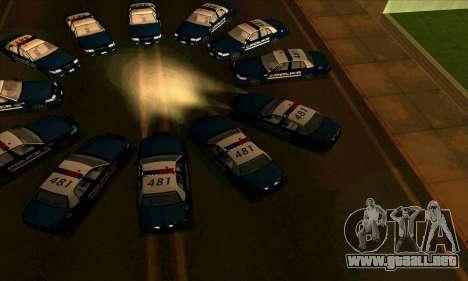 FCPD Ford Crown Victoria para la visión correcta GTA San Andreas