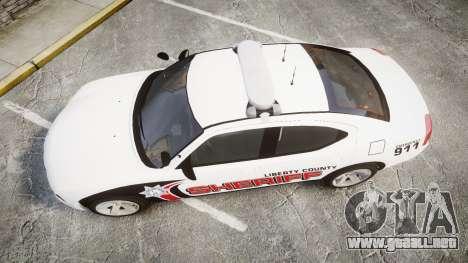 Dodge Charger 2010 LC Sheriff [ELS] para GTA 4 visión correcta