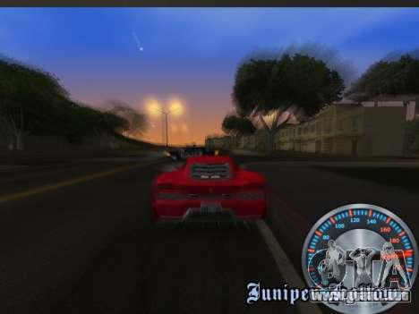Metal clásico velocímetro para GTA San Andreas sexta pantalla