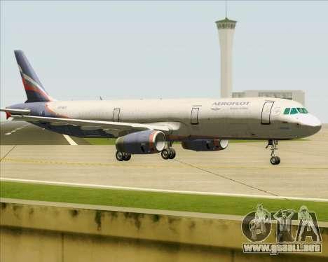 Airbus A321-200 Aeroflot - Russian Airlines para la visión correcta GTA San Andreas