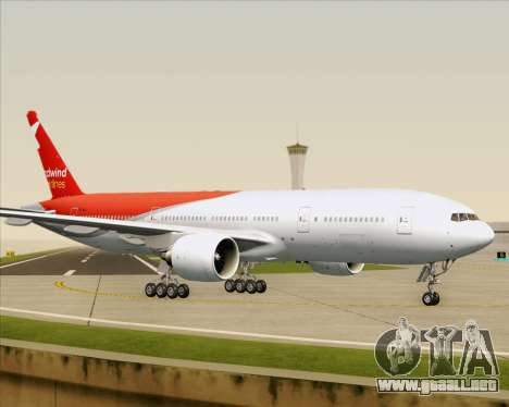 Boeing 777-21BER Nordwind Airlines para vista inferior GTA San Andreas