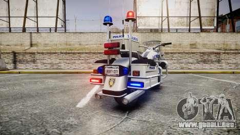 GTA V Western Sovereign LCPD [ELS] para GTA 4 Vista posterior izquierda