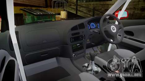 Mitsubishi Lancer Evolution VI Rally Marlboro para GTA 4 vista hacia atrás